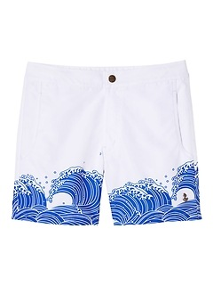 retromarine &#124 Odaiba Japanese Waves Printed Swim Short