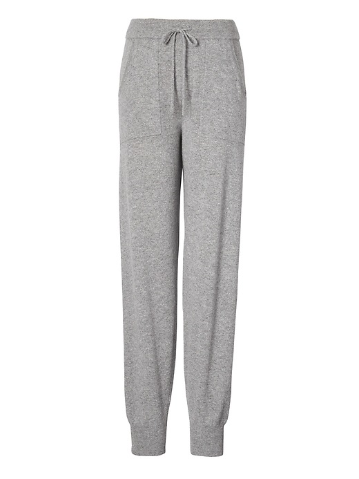 Banana Republic Womens Todd & Duncan Cashmere Jogger Heather Gray Size XS