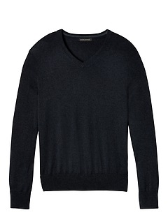 Silk-Cotton Cashmere V-Neck Sweater