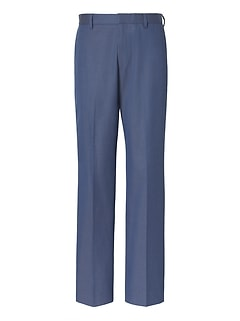 Standard Fit Non-Iron Blue Pant