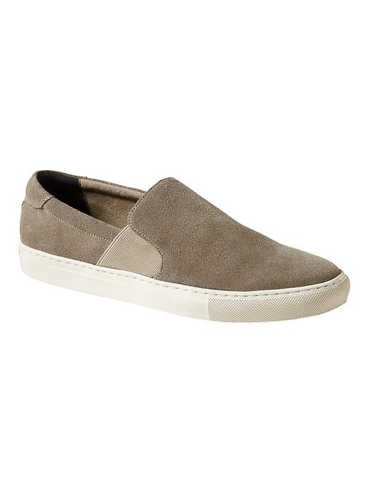 Tylan Suede Slip On Sneaker by Banana Repbulic