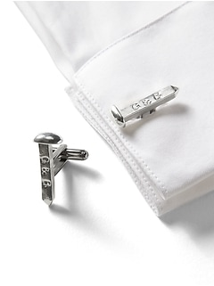 Giles & Brother &#124 Railroad Spike Cufflinks
