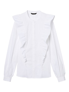 Petite Riley Tailored-Fit Ruffle-Front Shirt