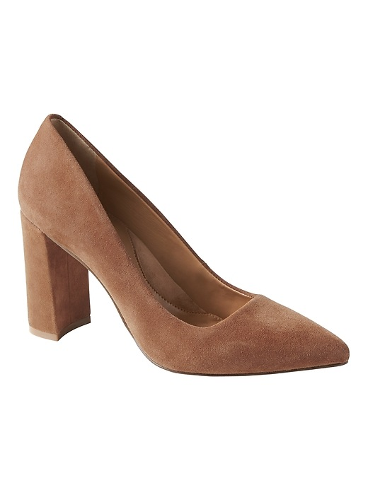 Banana Republic Womens Madison 12-Hour Block-Heel Pump Nutmeg Size 10
