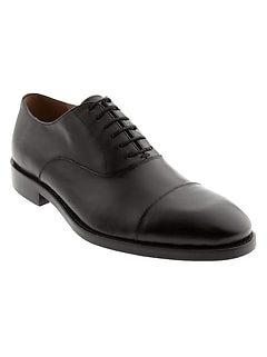 Kevin Italian Leather Cap-Toe Oxford