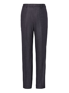 Slim Navy Pinstripe Italian Motion-Stretch Wool Suit Pant