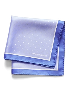 Polka Dot Silk Pocket Square