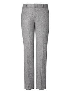 Avery Straight-Fit Texture Ankle Pant