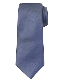 Cotton-Silk Solid Nanotex® Tie