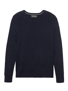 Todd & Duncan Cashmere Thermal Crew-Neck Sweater