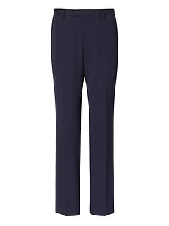 Slim Pinstripe Wool Suit Pant