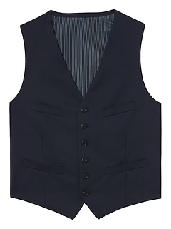 Solid Italian Wool Suit Vest