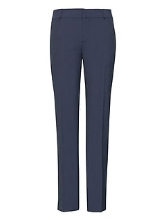 Petite Avery Straight-Fit Plaid Machine-Washable Italian Wool Ankle Pant