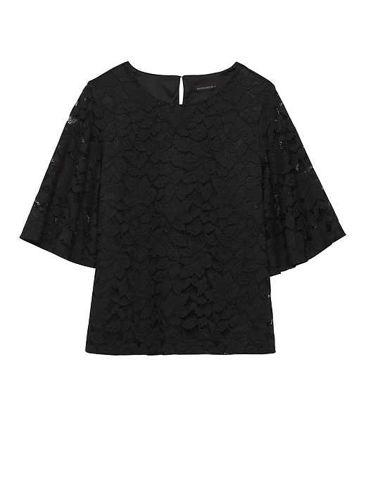 Lace Flare Sleeve Top by Banana Repbulic