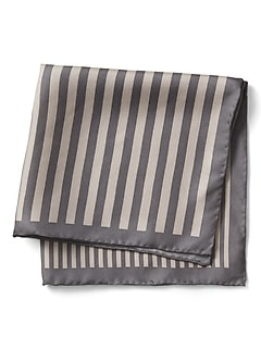 Multi Stripe Silk Pocket Square
