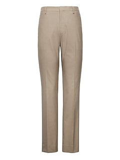 Slim Non-Iron Stretch Cotton Houndstooth Pant