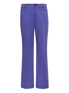 Logan Trouser-Fit Cropped Textured Sateen Pant