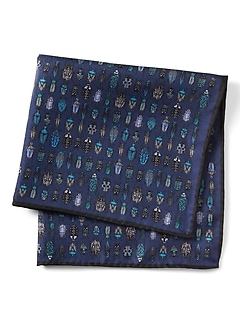 Bug Collection Silk Pocket Square