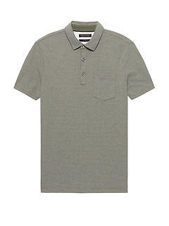 Don't-Sweat-It Stripe Polo