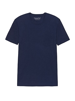 Vintage 100% Cotton Pocket Crew-Neck T-Shirt