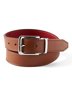 Pop Color Reversible Italian Leather Belt