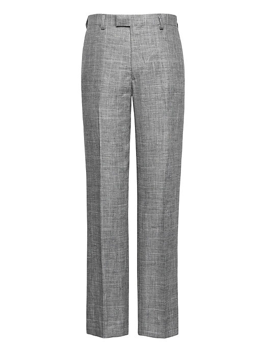 Standard Gray Plaid Linen Suit Trouser by Banana Repbulic