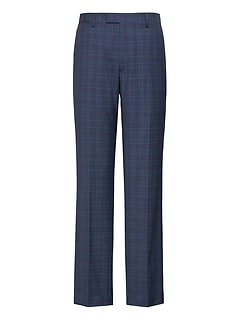 Standard Navy Plaid Italian Wool Suit Pant