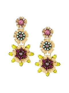 Elizabeth Cole &#124 Tropical Flower Earring
