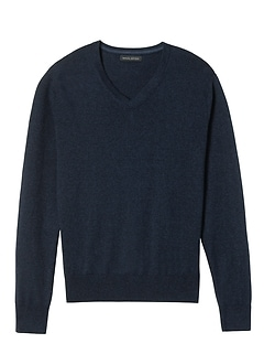 Slim Silk Cotton Cashmere V-Neck Sweater