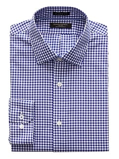 Classic-Fit Non-Iron Stretch Gingham Shirt