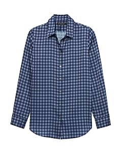 Petite Dillon Classic-Fit Gingham Soft Shirt