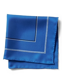 Multi-Border Silk Pocket Square
