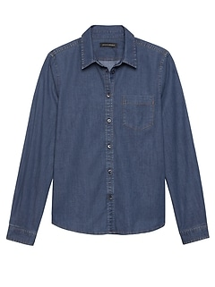 a3d4c49a0cf Petite Quinn Straight-Fit Denim Shirt