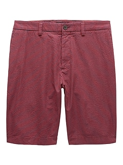 "11"" Seersucker Emerson Straight Gingham Short"