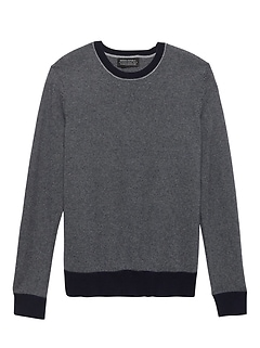 Todd & Duncan Cashmere Stripe Crew-Neck Sweater