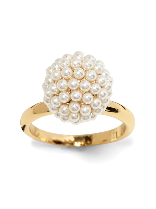 Beaded Pearl Ring by Banana Repbulic