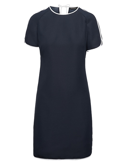 Curved Hem Dress With Piping by Banana Repbulic