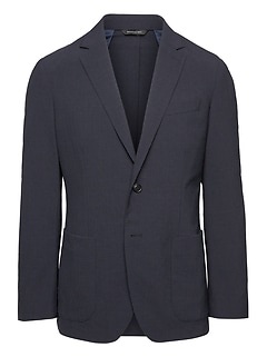 Slim Smart-Weight Performance Wool Blend Seersucker Suit Jacket