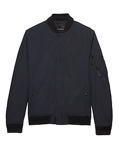 Water-Resistant Lightweight Bomber Jacket