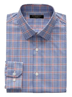 Grant Slim-Fit Non-Iron Check Dress Shirt