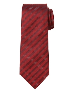 Polka Dot Stripe Silk Nanotex® Tie