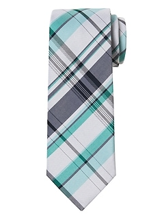 Madras Plaid Cotton-Silk Nanotex® Tie