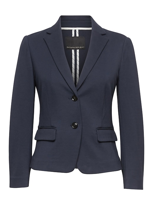 Fitted Crop Machine Washable Ponte Blazer by Banana Repbulic
