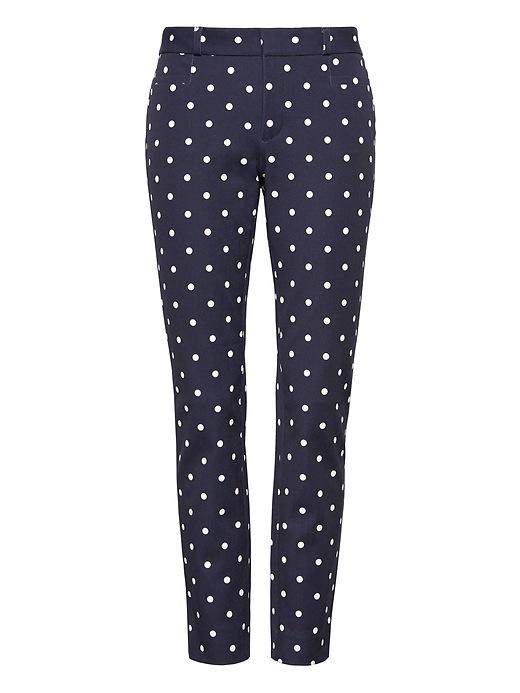 Petite Sloan Skinny Fit Dot Pant by Banana Repbulic