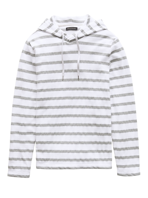 Textured Stripe Hoodie by Banana Repbulic