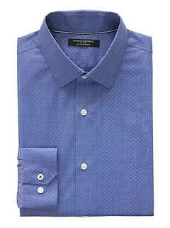Camden Standard-Fit Non-Iron Dot Dress Shirt
