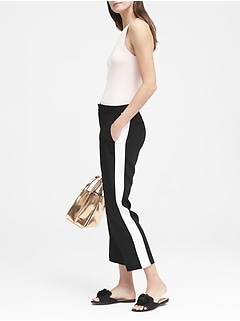 Avery Straight-Fit Easy Care Tuxedo Stripe Ankle Pant