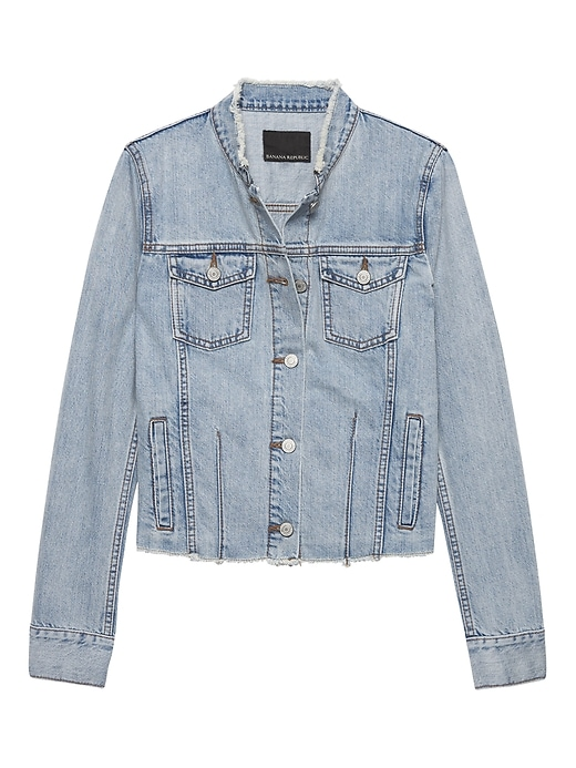 Frayed Denim Jacket by Banana Repbulic