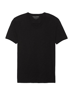 Vintage 100% Cotton V-Neck T-Shirt