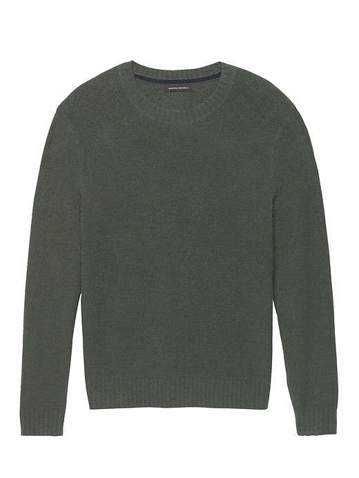 Terry Knit Crew Neck Sweater by Banana Repbulic